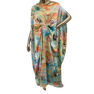 Gorgeous Silky Floral Caftan NWOT